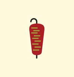 Doner kebab on pole vector