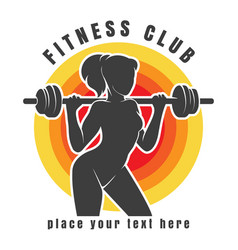 Fitness club or gym colorful logo vector