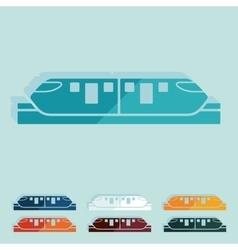 Flat design monorail train vector