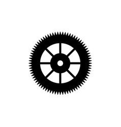 flat gear wheel icon vector image