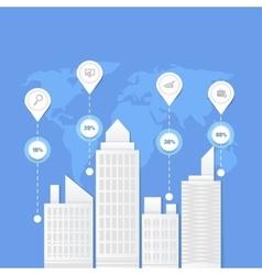 Flat of business city urban landscape vector image