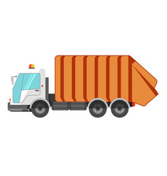 garbage removal service dumpster dustcart truck vector image