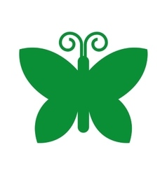 green butterfly isolated icon design vector image