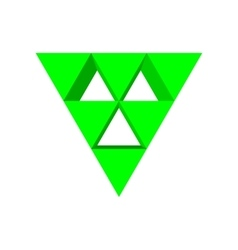 Green triangle arrow cartoon icon vector image vector image