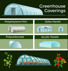 Greenhouses and high tunnels set vector