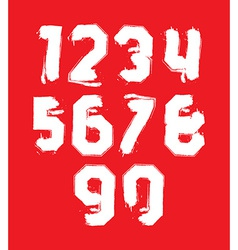 Hand drawn stroked numerals collection of unusual vector