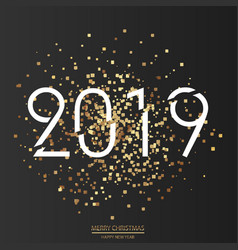 Happy new year or christmas card 2019 vector