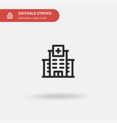 Hospital simple icon symbol vector