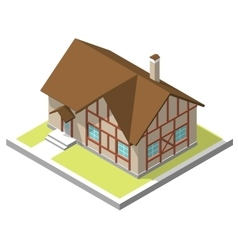 isometric image a private house vector image