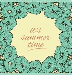 Its summer time wallpaper with flowers fun party vector