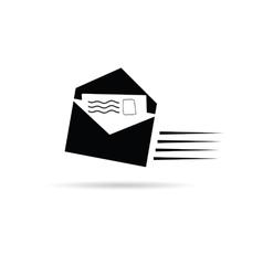 Letter black and white vector