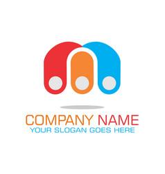 letter m color concept logo icon vector image