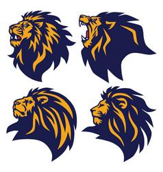 Lion logo set esports mascot collection vector
