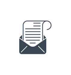 mail related glyph icon vector image