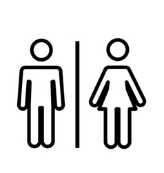 Man and woman line icon flat vector