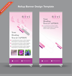 modern rollup banner with subtle pink gradient and vector image