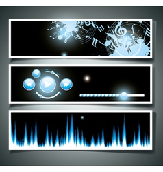 Music webpage vector