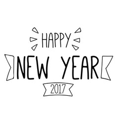 New year line 2017 image vector