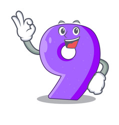 Okay number nine athletics the shaped character vector
