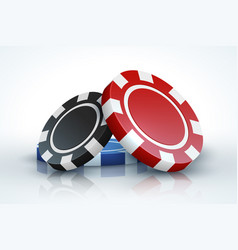 poker chip casino gambling 3d realistic playing vector image
