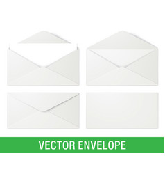 realistic white envelope mockups vector image