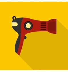 Red hairdryer icon flat style vector image