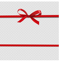 red ribbon isolated transparent background vector image