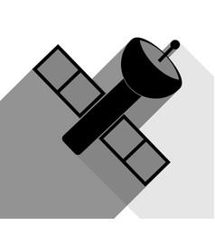 satellite sign black icon vector image