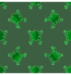 Seamless Cartoon Frog Pattern vector