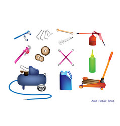 Set of auto service and repair tools kits vector