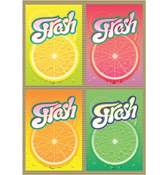 set of labels for packaging juice vector image