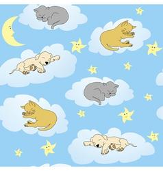 Sleepy animals vector
