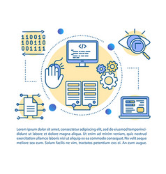 software development article page template web vector image