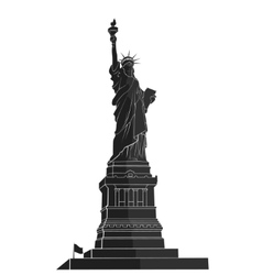 Statue of Liberty New York landmark flat vector image
