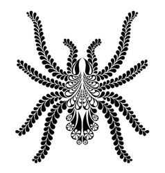 Tarantula stylish spider tattoo vector