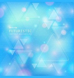 technology of futuristic triangle background with vector image