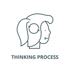 thinking process line icon linear concept vector image