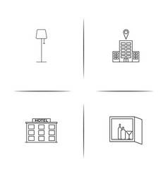 Travel simple linear icon setsimple outline icons vector