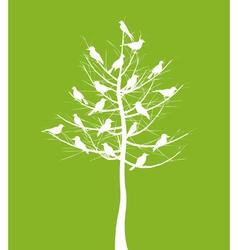 tree of birds vector image