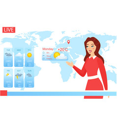 Tv weather forecast report vector