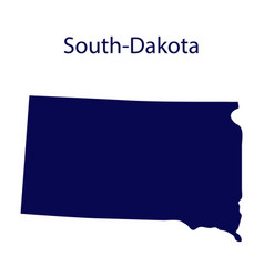 united states south dakota dark blue silhouette vector image