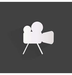Videocamera web icon flat design vector