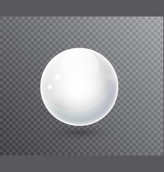 white ball white sphere on a transparent vector image