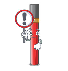 With sign lip gloss in the cartoon shape vector