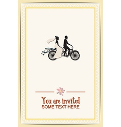 With wedding and wedding bike vector