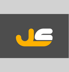 Yellow white grey combination logo letter js j s vector