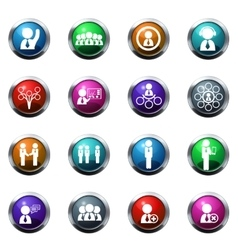 Community icons set vector image vector image