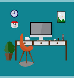 modern design workspace vector image