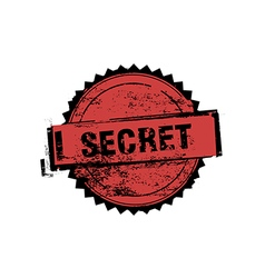 Secret stamp badges vector image