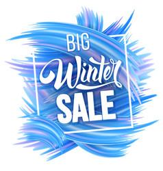 winter sale advertise design vector image vector image